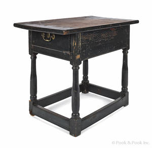 Pennsylvania painted pine and poplar tavern table
