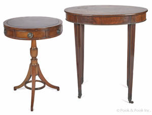 Two English Regency style mahogany stands