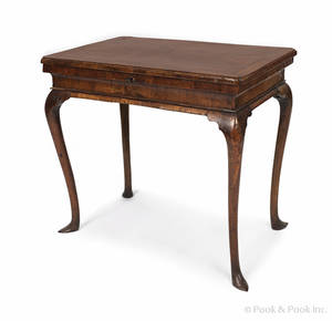 George II burl veneer dressing table ca 1750