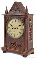 English walnut mantel clock ca 1870