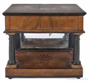 Miniature classical mahogany pier table mid 19th c