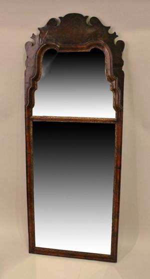 E 20th C Walnut Framed Mirror
