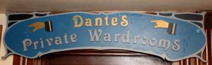 Dantes Private Wardrooms Sign