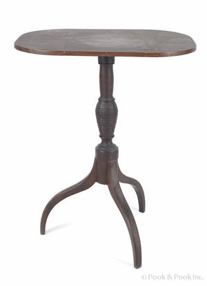 New England Federal mahogany candlestand early 19th c