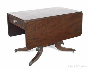 Pennsylvania or New York Federal mahogany breakfast table ca 1815