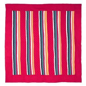 Pennsylvania pieced eightcolor rainbow bar quilt early 20th c