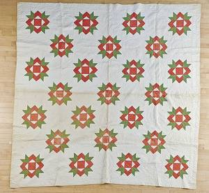 Two Pennsylvania pieced and appliqud quilts
