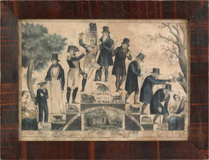 N Currier lithograph titled  The Life and Age of Man