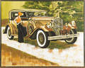 Large contemporary oil on canvas portrait of a car