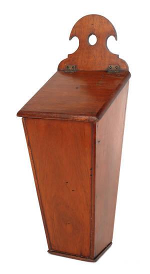 English mahogany hanging pipe box