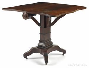 Classical mahogany tuckaway table