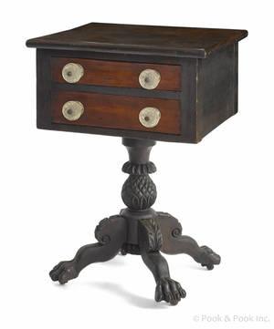 Empire mahogany sewing stand