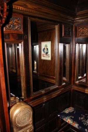 Antique English Elevator Car with controls