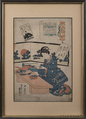 Two Japanese woodblocks