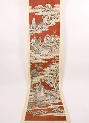Chinese Figural Scroll Painting
