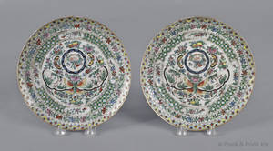Pair of Chinese export porcelain plates 19th c