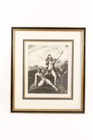 George Wesley Bellows The Battle Pencil Signed