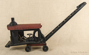 Buddy L pressed steel steam shovel