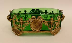 Ormolu and Crystal Centerpiece in Green