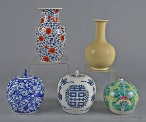 Three Chinese porcelain ginger jars