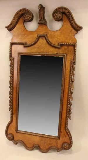 Large Faded Walnut Mirror