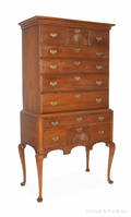 New England Queen Anne cherry high chest ca 1770