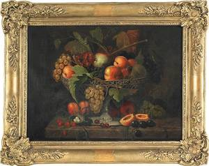 Oil on canvas still life 19th c