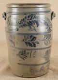 Tengallon stoneware crock