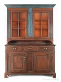 Pennsylvania painted twopart Dutch cupboard