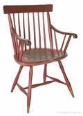 Painted rodback Windsor armchair
