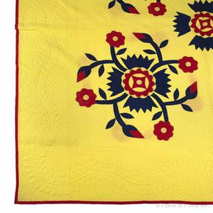 Appliqu whig rose quilt ca 1900