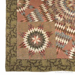 Pieced star of Bethlehem quilt mid 19th c