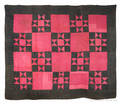 New England linsey woolsey quilt ca 1800