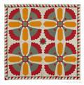 Appliqu cockscomb variant quilt late 19th c