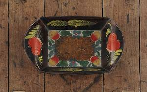 Pennsylvania tole bread tray 19th c
