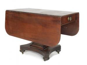 New England classical mahogany breakfast table