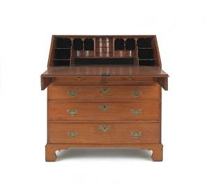 Pennsylvania Queen Anne walnut slant front desk
