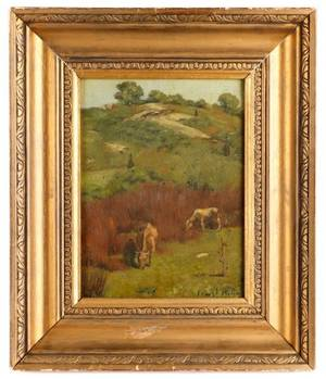 Ernest Parton Pasture Scene with Cattle Oil