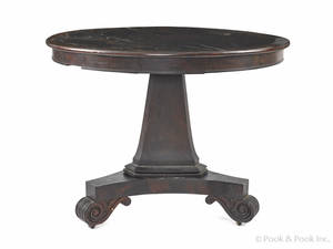 New York classical mahogany center table ca 1835