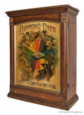 Oak  Diamond Dyes  cabinet