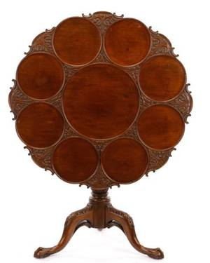 George III Style Walnut Supper Table 20th C