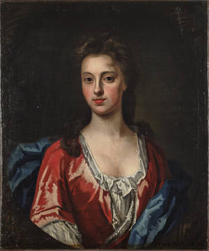 Oil on canvas portrait of a woman 18th c