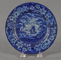 Historical blue Staffordshire Cadmus small plate 19th c