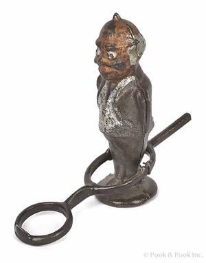 Cast iron Foxy Grandpa flip toy