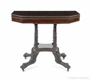 Late Federal mahogany game table ca 1815