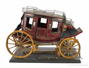 Carved and painted model of the stage coach  Diamond Tally Ho