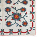Appliqu whig rose quilt late 19th c
