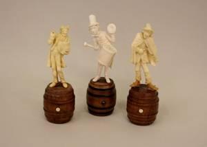 Group of Three Musician Figurines