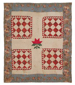 American pieced crib quilt ca 1835