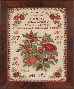 Pennsylvania wool needlework ca 1850